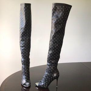 Tom Ford Open Toe over Knee Stilettos Heel Boots